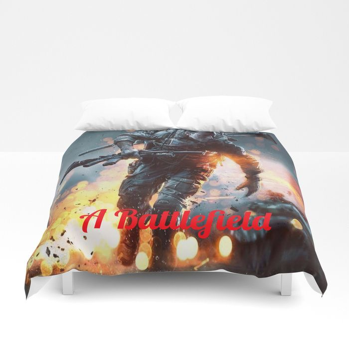 Another reason to never leave your bed: premium, ultra-soft Duvet Covers that transform your bedroom with amazing design. Our duvets feature sharp, vivid prints on the front, with a cozy white reverse side.     https://society6.com/product/battlefield1141272_duvet-cover?curator=eazandraever #homedecor #duvetcover