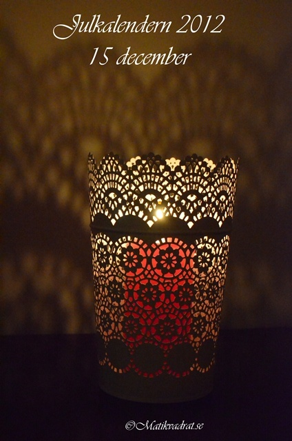 Candle holder from IKEA, called SKURAR. For pillar candles.   Isn't it pretty?