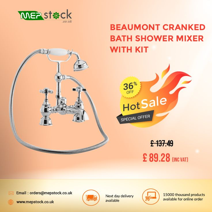 Hot offer !!! 36% off on Beaumont Cranked Bath Shower ...