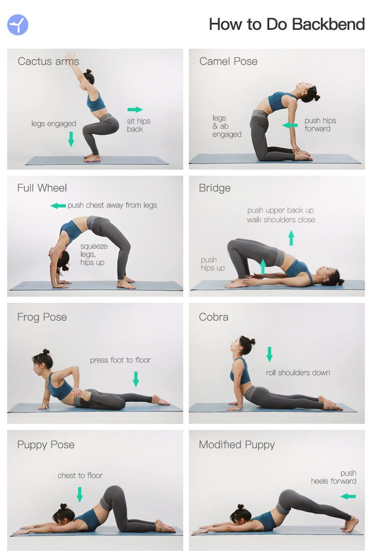 8 Steps To Make The Backbend Pose In 2020 Daily Workout Daily Workout App Backbend Poses