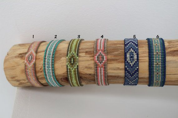 Bracelets woven Miyuki 15mm beads by Lapetitemarseillaise on Etsy