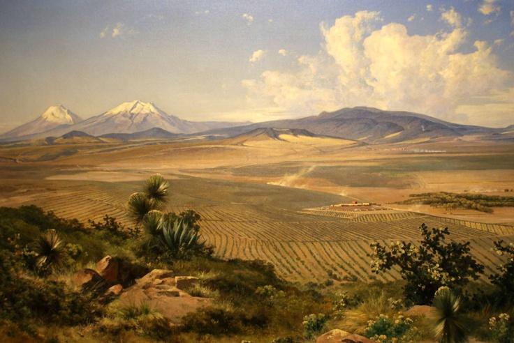 Jose Maria Velasco - Valle de México desde el Tepeyac, 1908  Se exhibe en el Museo de Arte Munal