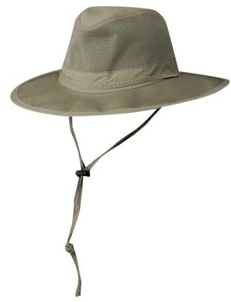 Scala Men's Mesh Safari Hat - Grey