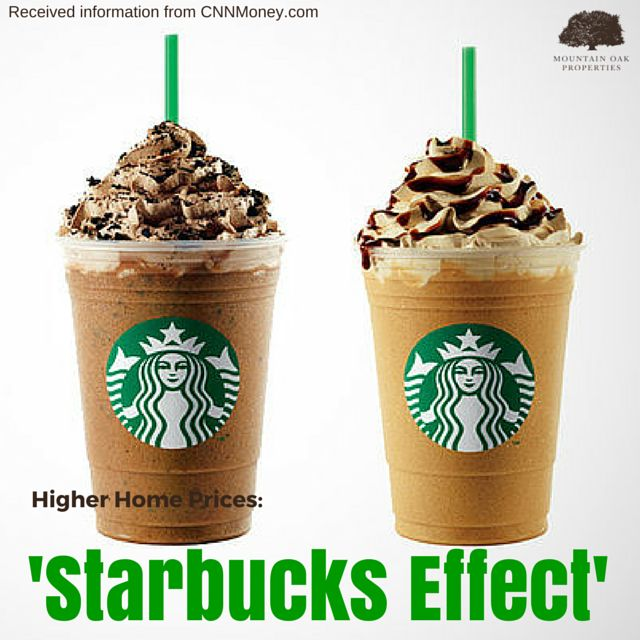 Did you know that the value of homes on the market that are within a quarter-mile of a Starbucks coffee shop are rising faster than ones that are not? According to the research of Zillow, this has been the case not only for a couple of months but years.