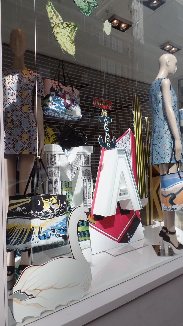 #Window display #prop manufacture #visual merchandising #Matches fashion #Mary Katrantzou
