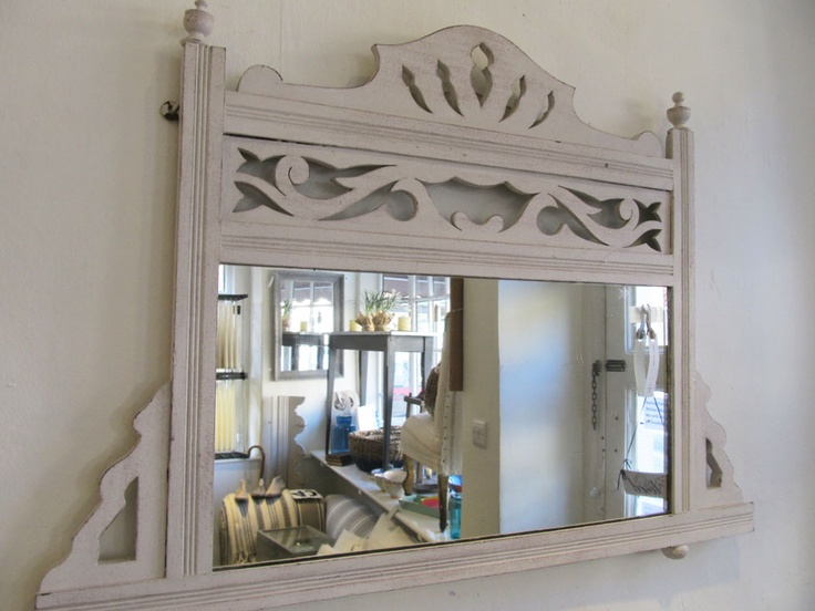 I like the idea of using mirrors from a dresser or vanity as wall mirrors.