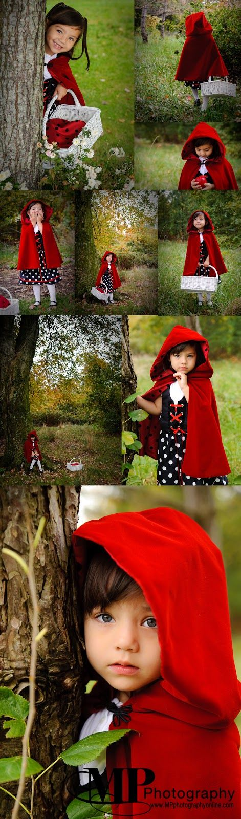 Costume for Halloween.  Little Red Riding Hood.  Made it and then took the…