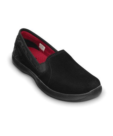 Take a look at this Black & True Red AnyWeather Suede Loafer - Women by Crocs Women & Men on @zulily today! I love my crocs!!! ~L~