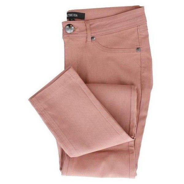 Devon Classic 5 Pocket Pants (155 RON) ❤ liked on Polyvore featuring pants, slim fit pants, mid rise pants, five pocket pants, pull on pants and slim fitted pants