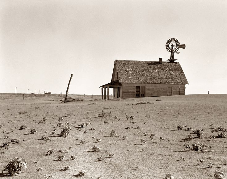 Coldwater District north of Dalhart, Texas. This house is occupied; most of the houses here have been abandoned. Photo by Dorothea Lange. 1938