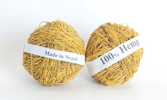 Hemp Yarn in Assorted Colors by PenandHook, based in Colorado USA and selling on Etsy