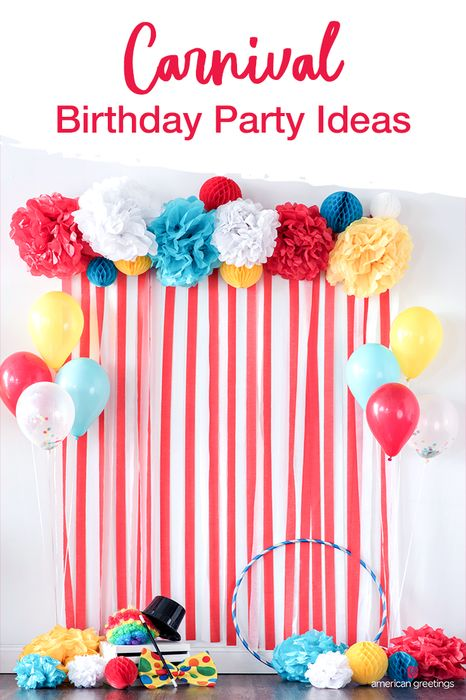 Planning a Cirque du Birthday? No acrobatics needed to host the perfect carnival themed birthday party. Our collection of ideas and planning tips will inspire any celebration you have in store. And our easy how-to's, cool DIY ideas, and free printables will give you more time to enjoy the greatest party on earth.