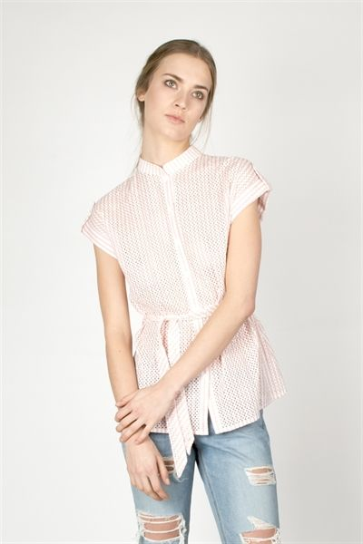 Rena Shirt  http://relatedapparel.com/Rena-Shirt.aspx  #pink #stripes #white #relatedapparel #related #fashion #myrelated