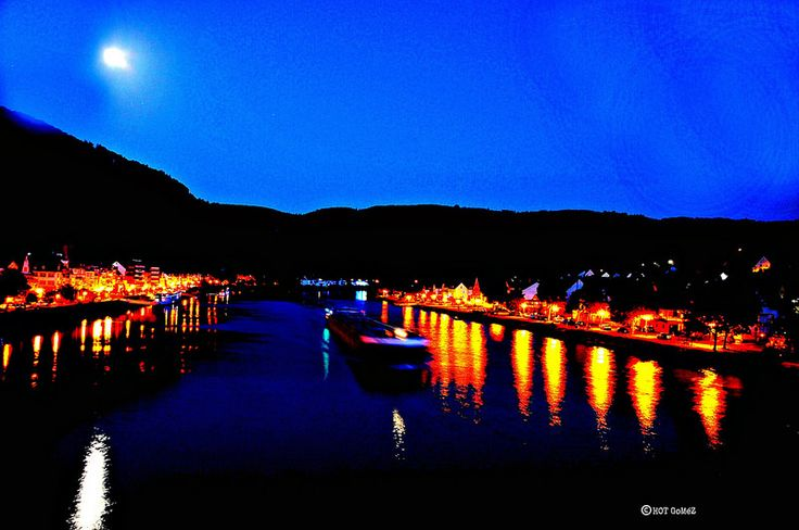 Night river freight