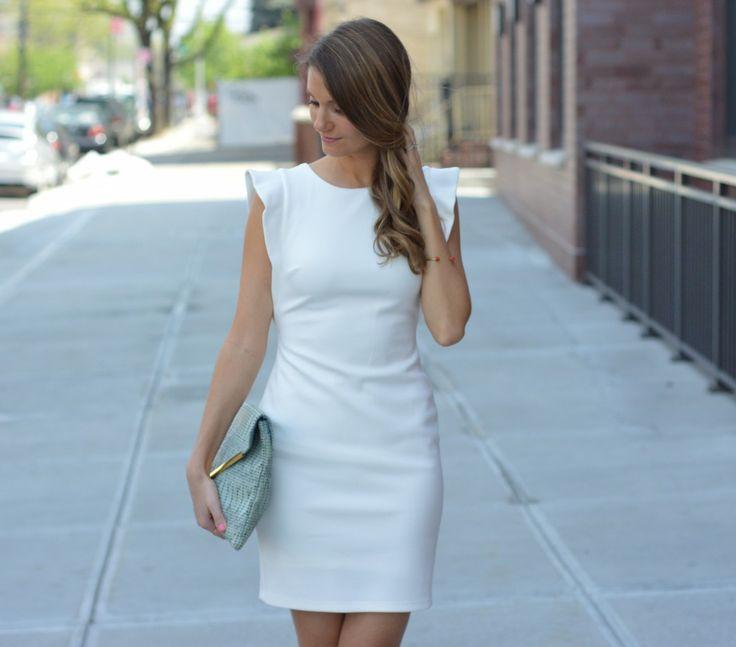 little white bridal shower dress