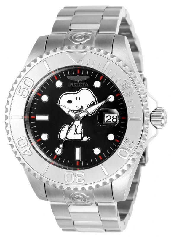 Invicta Character Collection 24813, Snoopy es el protagonista de esta pieza con una caja de 47mm, cristal mineral, maquinaria automática y función de fechador.
