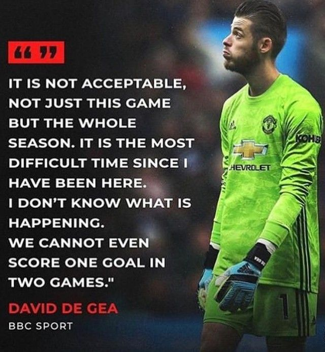 De Gea We Didn T Create Any Proper Chances We Defended Well The Team Needs To Step Up We Have Some Big Injuries But Thats No The Unit Bbc Sport Man