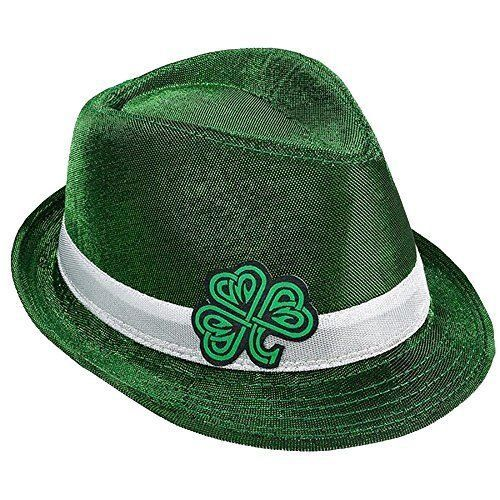 St Patrick's Day Irish Green Shamrock Leaf Clover Hat One Size Brand New #StPatricks