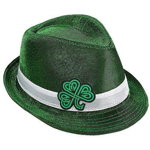 St Patrick's Day Irish Green Shamrock Leaf Clover Hat One Size Brand New #StPatricks