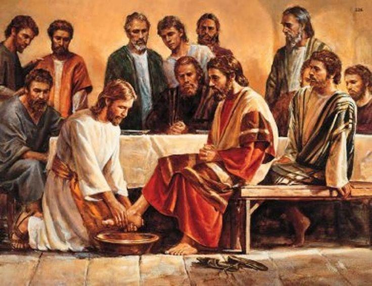 Иисус моет ноги своим ученикам
