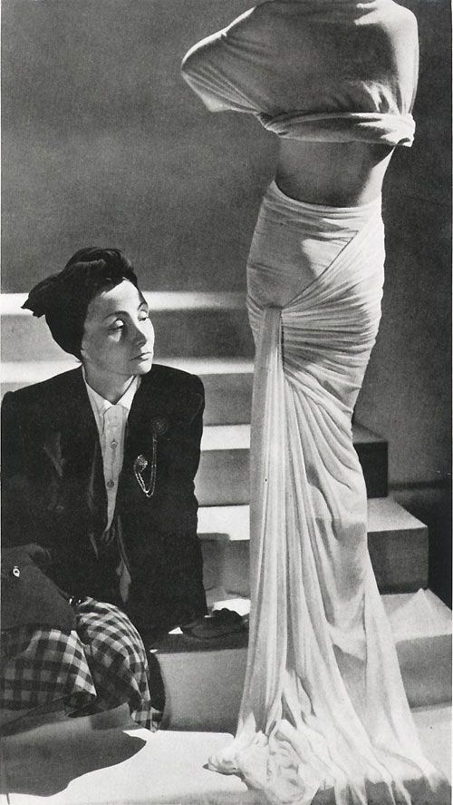 Madame Gres, the queen of drape often constructing one gown from a single draped piece of fabric.
