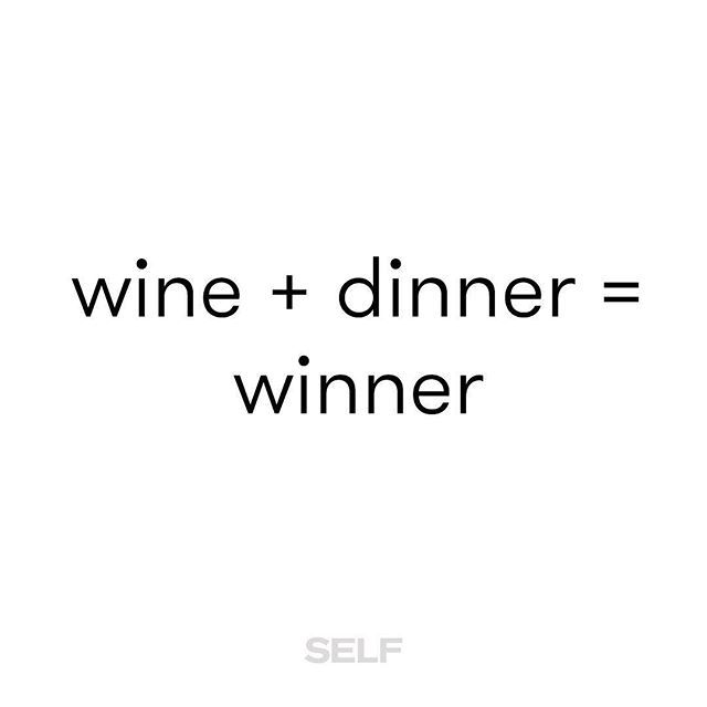 Everyone wins 🍷 🍝
