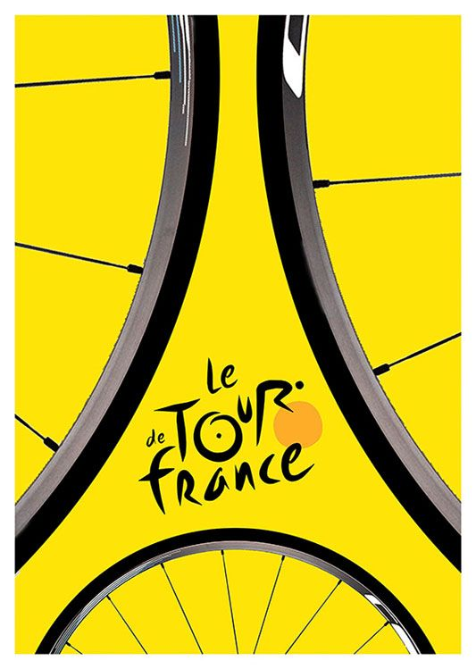 Le Tour the France Vintage Poster, available at 45x32cm. This poster is printed on matt coated 350 gram paper.