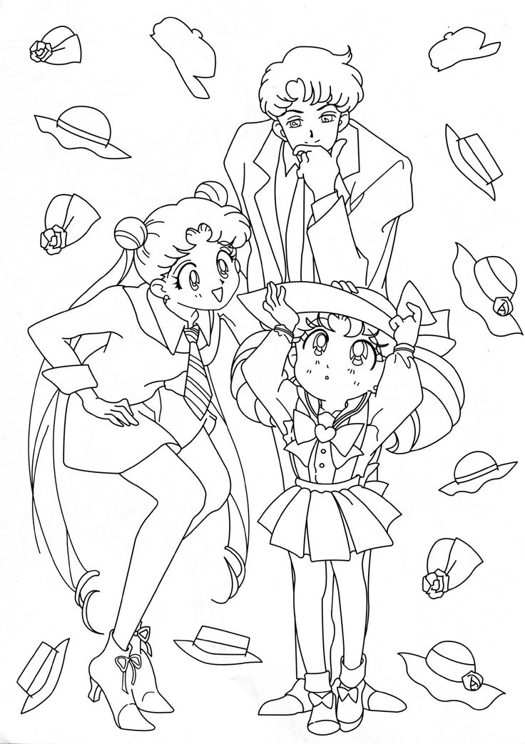 507 Best Coloring Pages Images On Pinterest Colouring Pages Sailor Moon Coloring Pages