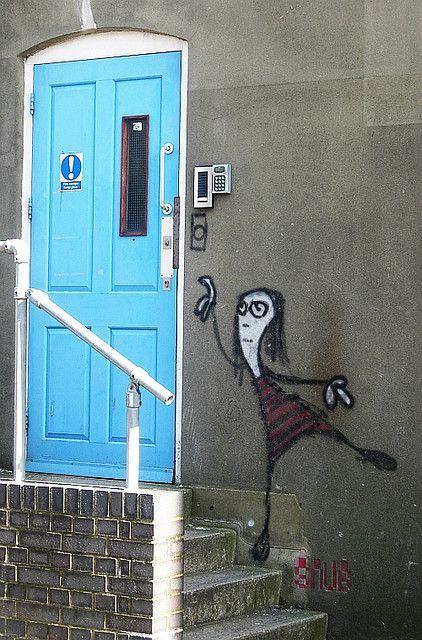 Circus street doorbell ringer - Snub, Brighton