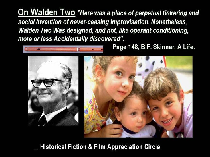 walden two by b f skinner essay Walden two is a novel published in 1948 by b f skinner, who intended it to describe a utopiaothers have claimed that the society described in the novel is a dystopia, noting its similarity to cults.
