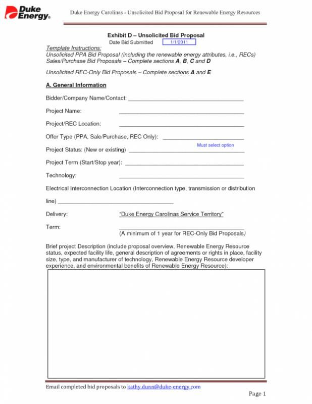 Freelance Contract Template Energy Work Proposal Templates
