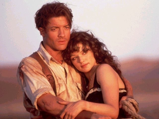Brendan Fraser & Rachel Weisz                    in The Mummy as Emerson and Amelia.