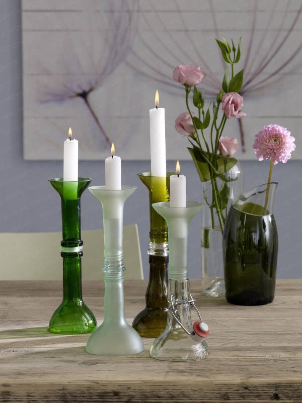 DIY - Bottles start a new life.  It is possible.