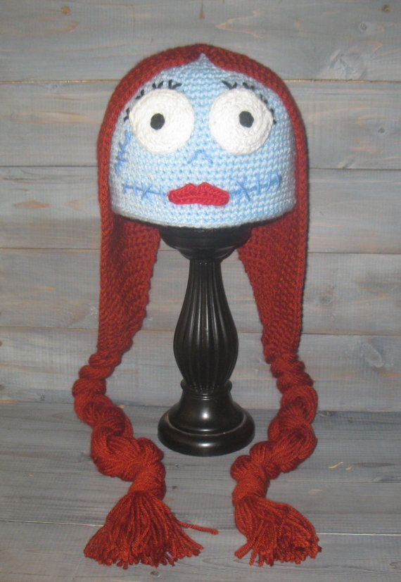 Adult Sally Nightmare Before Christmas crochet hat, Jack ...