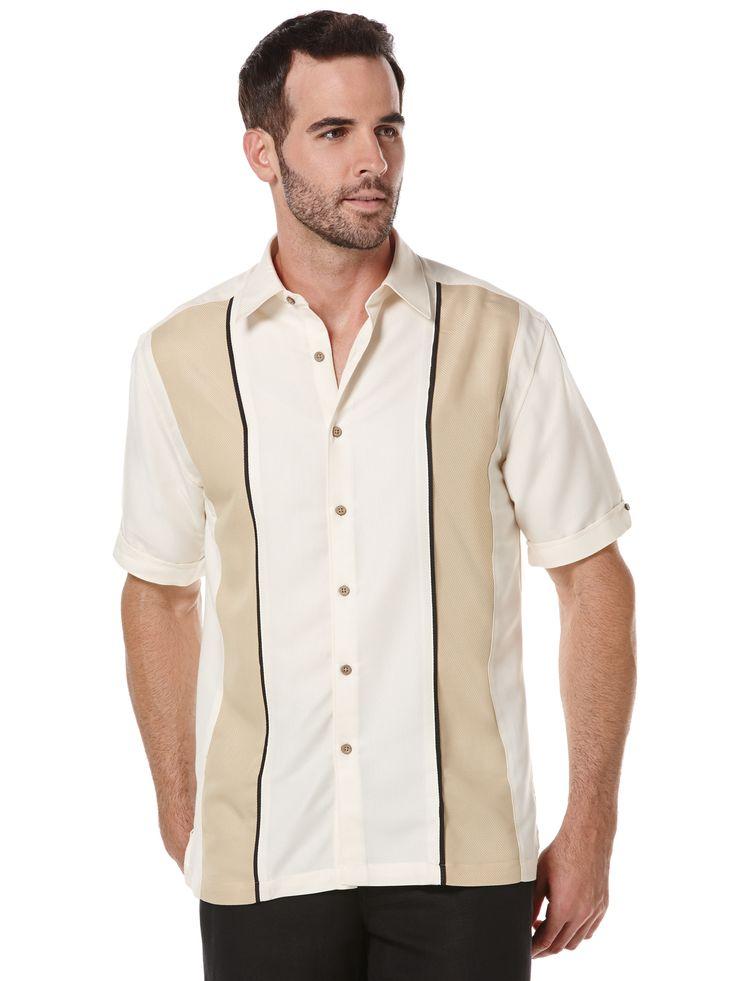 1950s style mens shirt. Cubavera Big  Tall Rayon Polyester Panel Shirt $29.99 AT vintagedancer.com