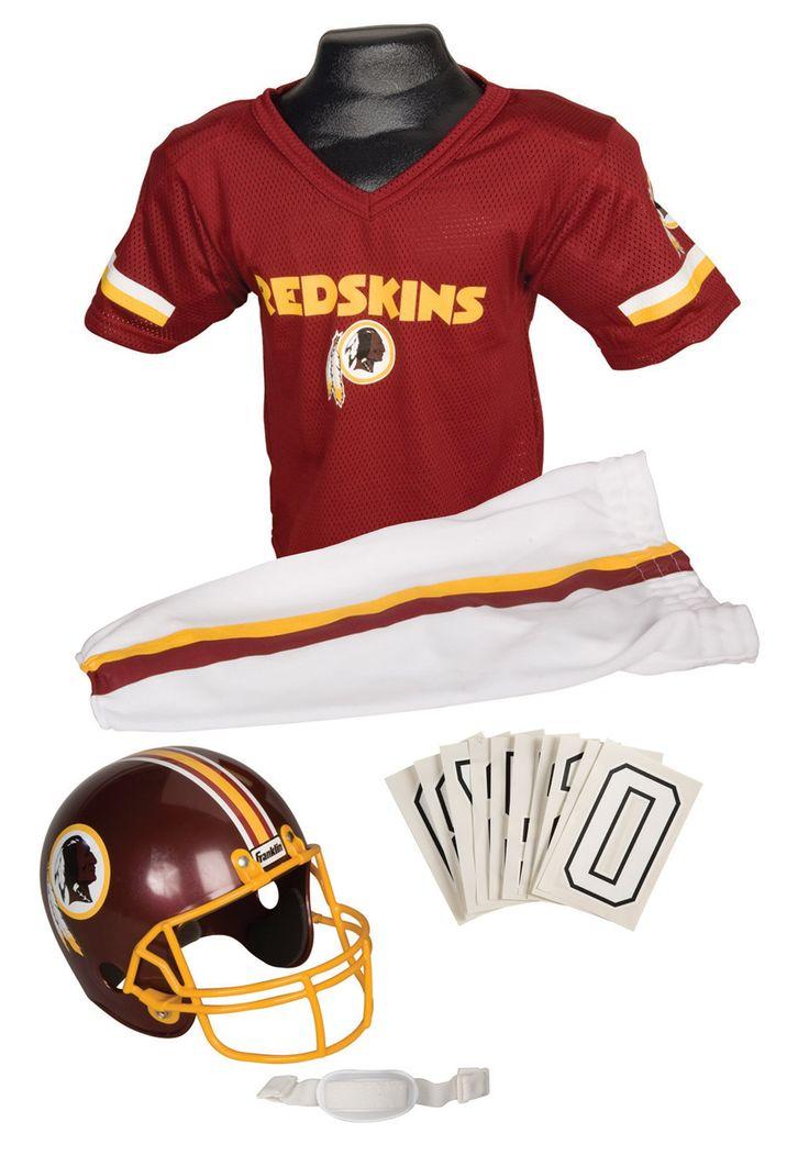 NFL Halloween Costumes | Boys NFL Redskins Uniform Costume