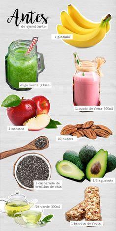 #Alimentos para antes de #ejercitarte | #BlogAndrea