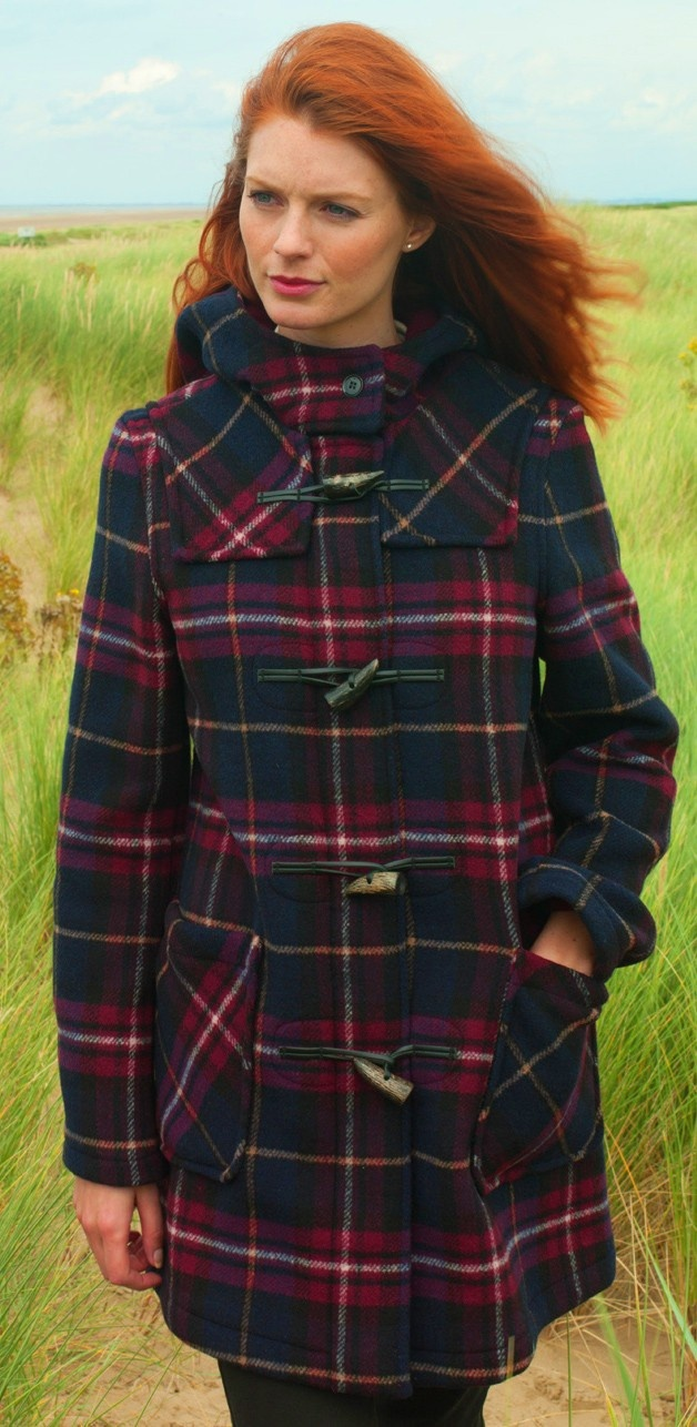Ladies Checked duffle coat   £99.98
