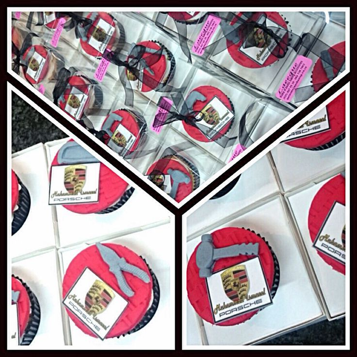 Themed cupcakes individually wrapped