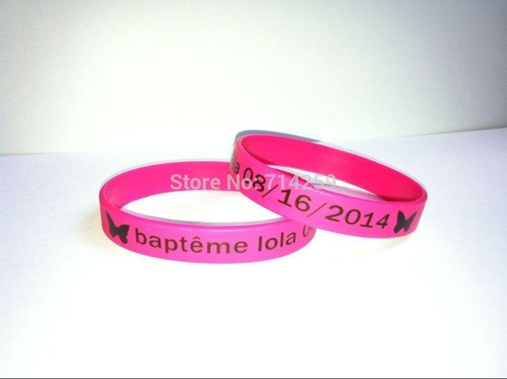 100 Шт./лот пользовательский цвет печати тексты и логотип резиновые браслеты P21000 силиконовый браслет для событий и поощрения подарок