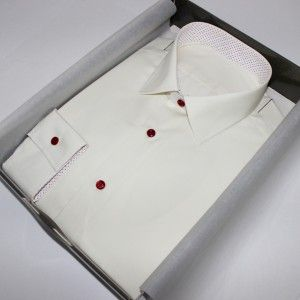 Chemise blanche non iron  Chemise à motifs  chemise blanche  chemise non iron  chemise col italien  Chemise poignets mixtes  chemise sans gorge  chemise bas liquette  chemise simple retors  chemise en coton