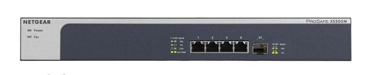 Switch niezarządzalny Netgear XS505M ProSafe Switch PoE+ LAN 4x10G 1xSFP+
