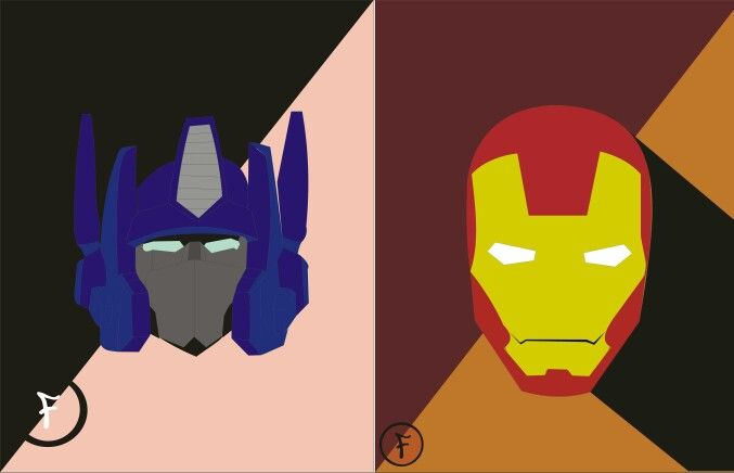 Optimus & iron man the hero in the world