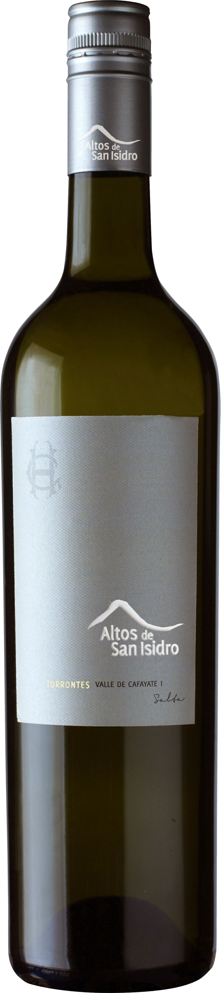 """2011 #ALTOS DE SAN ISIDRO, TORRONTES, CAFAYATE, SALTA, ARGENTINA """"Light golden color, showing off ripe stone fruits, fresh herbs, rose petal, and white pepper. It all follows through vibrantly on the palate and finishes clean with a punch of acidity and spice."""""""
