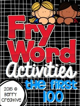 This is a 130+ page packet of activities to work on the First 100 Fry Words.  Sight Word Concentration-Kids can play in a small group or in pairs. I also have them use each word in a sentence as they play. These can also be used as flash cards.Connect Four ~ Students work in pairs.