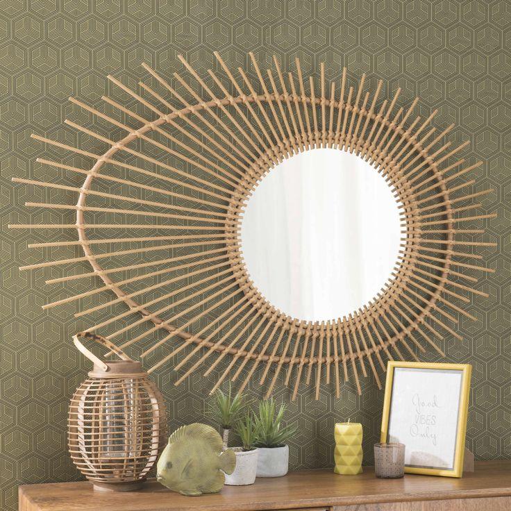 Specchio in rattan H 125 cm ROZANA 130€