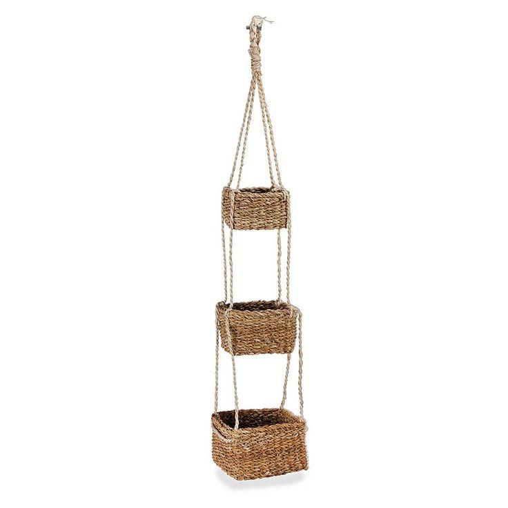 Set of 3 hanging baskets