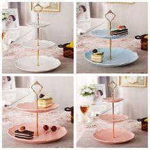 Tier 3 Bolo bakeware Placa Estande Lidar Com Coroa de Metal Montagem acessórios de cozinha ferramentas de decoração do bolo da Festa de Casamento de Ouro(China (Mainland))