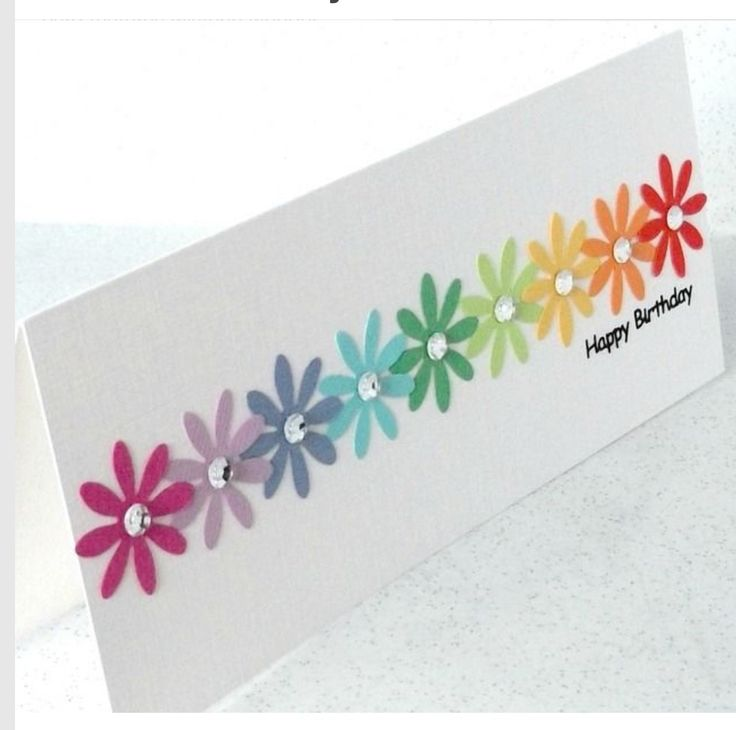 I would definitely want this colorfull card on my birthday!