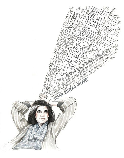 "Susan Sontag on the constriving dichotomy between pop culture and philosophy ""There are contradictory impulses in everything, and you have to keep directing your attention to what is contradictory and try to sort these things out and to purify them."""